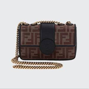 Fendi Mini Double F Tess Shoulder Bag